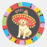 Fiesta Golden Retriever Classic Round Sticker