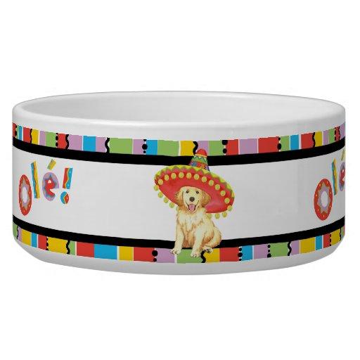 Fiesta Golden Retriever Dog Bowl