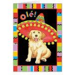Fiesta Golden Retriever Greeting Card