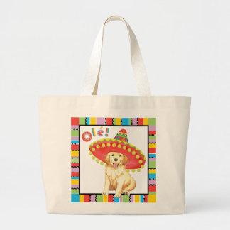 Fiesta Golden Retriever Large Tote Bag