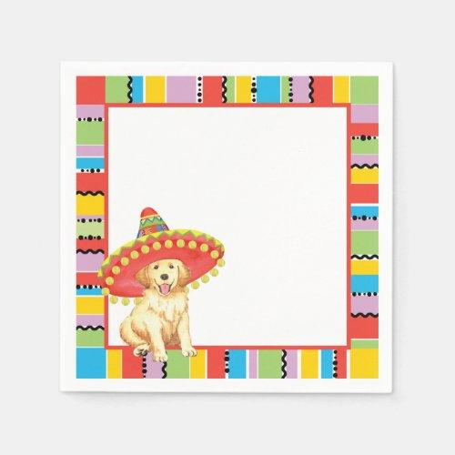 Fiesta Golden Retriever Paper Napkins