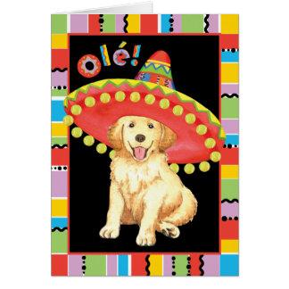 Fiesta Golden Retriever Stationery Note Card