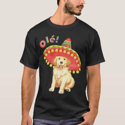 Fiesta Golden Retriever T_Shirt