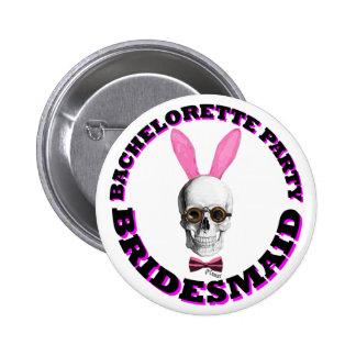 Fiesta gótico del bachelorette de Steampunk Pin Redondo De 2 Pulgadas