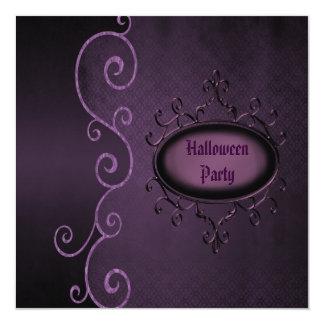 """Fiesta gótico elegante de Halloween de los Invitación 5.25"""" X 5.25"""""""
