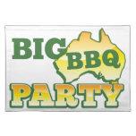 Fiesta grande AUSTRALIANO del Bbq Manteles