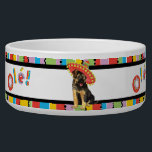 "Fiesta GSD Bowl<br><div class=""desc"">Hola! Time for fun and celebration! Sing and play with your favorite fiesta-loving dog. Celebrate Cinco de Mayo or any other fiesta time with your cute sombrero-wearing German Shepherd Dog!</div>"