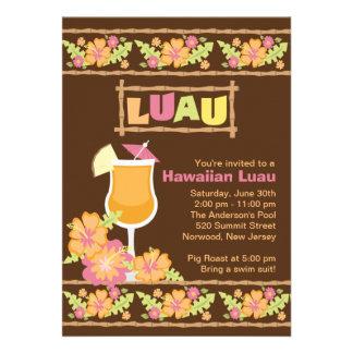 Fiesta hawaiano de Luau de las bebidas tropicales  Comunicados Personalizados