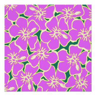 Fiesta hawaiano de Luau de las flores tropicales Perfect Poster