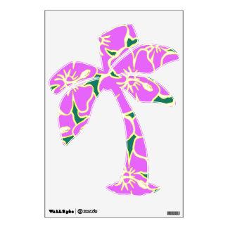 Fiesta hawaiano de Luau de las flores tropicales Vinilo Adhesivo