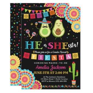 Fiesta He or She-esta Invitation Mexican