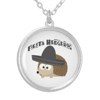 Fiesta Hedgehog Silver Plated Necklace