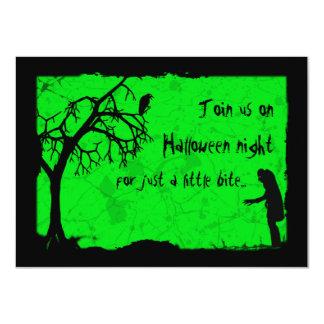 "Fiesta horrible de Halloween del vampiro Invitación 4.5"" X 6.25"""