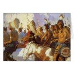 Fiesta indio de la guerra por NC Wyeth, arte Tarjeta De Felicitación