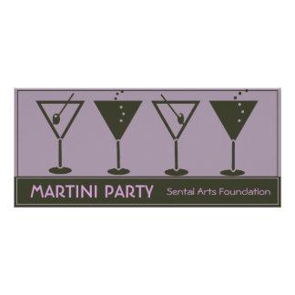 Fiesta-Invitación de Martini Plantilla De Lona