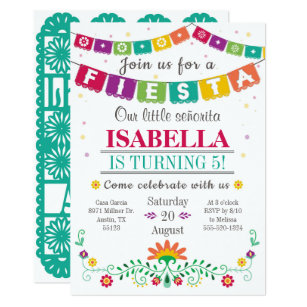 Colorful fiesta birthday gifts on zazzle fiesta invitation birthday invitation all ages filmwisefo