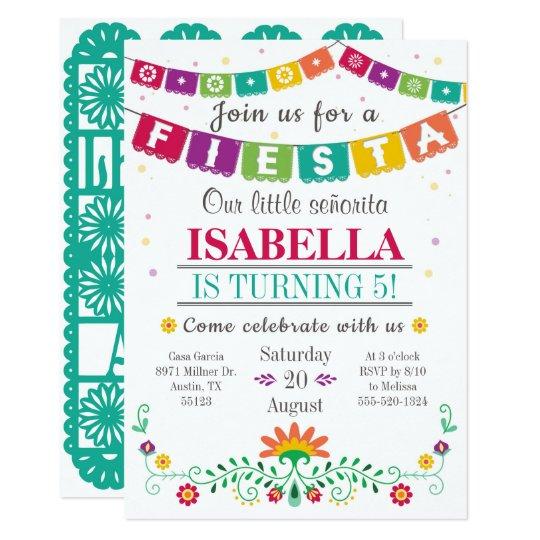 Fiesta Invitation Birthday Invitation All Ages Zazzlecom