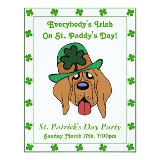 """Fiesta irlandés divertido de la frontera del verde invitación 4.25"""" x 5.5"""""""