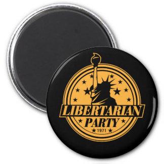 Fiesta libertario 1971 imán redondo 5 cm