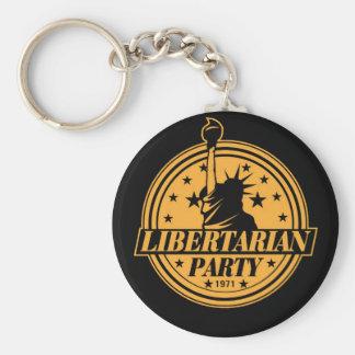 Fiesta libertario 1971 llavero redondo tipo pin