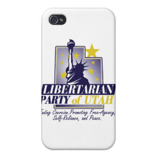 Fiesta libertario del logotipo de Utah iPhone 4 Cobertura