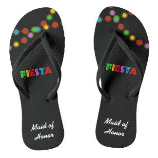 Fiesta Lights Personalized Flip Flops