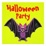 Fiesta lindo de Halloween del palo Comunicados Personalizados
