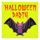 Fiesta lindo de Halloween del palo Invitación Personalizada