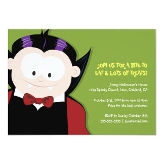 """Fiesta lindo de los niños del vampiro de Halloween Invitación 5"""" X 7"""""""