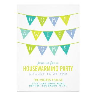 Fiesta lindo del estreno de una casa del empavesad comunicados personalizados