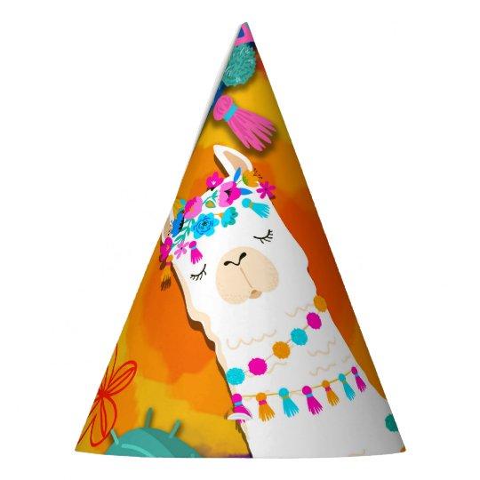 Fiesta Llama Cinco De Mayo Birthday Party Hat