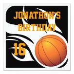 Fiesta llameante de BW del cumpleaños del Anuncios Personalizados