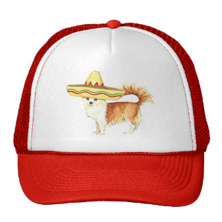Fiesta Long Coat Chihuahua Trucker Hat
