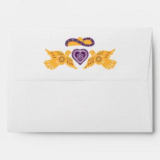 Fiesta Lovebirds A7 envelope on Linen