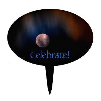 Fiesta lunar completo colorido del cielo del arco  figuras de tarta