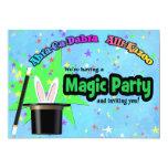 Fiesta mágico de los niños invitación personalizada