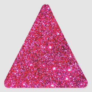 Fiesta mágico del día de fiesta reluciente rojo de calcomanía triangulo personalizadas