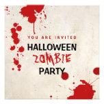 Fiesta manchado de sangre del vampiro del zombi de invitación personalizada