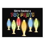 Fiesta maravilloso de las lámparas 70s anuncio