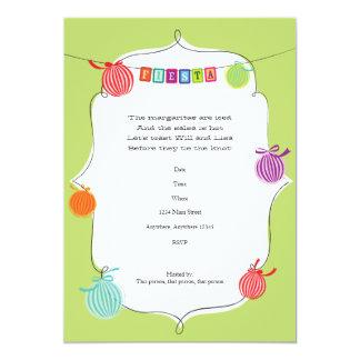 Fiesta Margarita Mexican Birthday Party Invitation