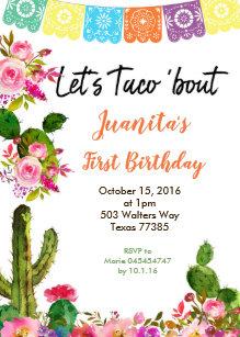 mexican fiesta party invitations zazzle
