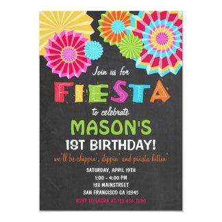 Fiesta Mexican Birthday Party Invitation