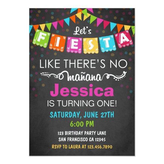 Fiesta Mexican Birthday Party Invitation Zazzle Com