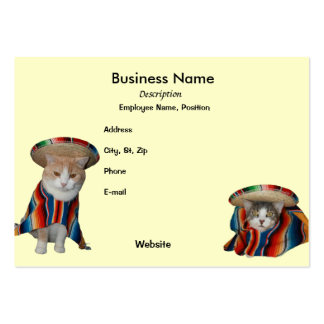 Fiesta/Mexican/Hispanic Theme Large Business Cards (Pack Of 100)
