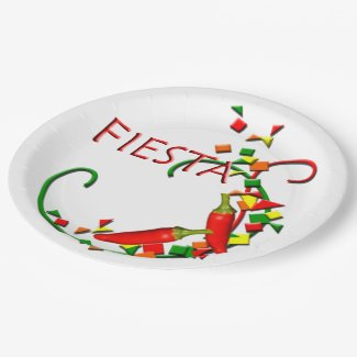 Fiesta Mexican Hot Peppers Party Plates