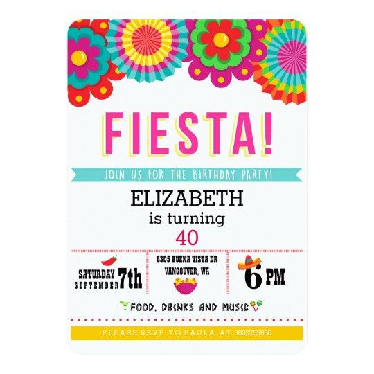fiesta mexican party invitation zazzle com