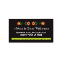 Fiesta Mexican Print Wedding Address Label