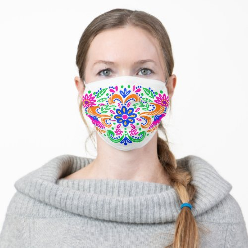 Fiesta Mexican sugar skull floral pattern party Cloth Face Mask