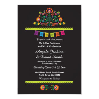 Fiesta Mexican Wedding Party Bright Invitation