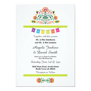 mexican wedding invitations mexican wedding invitations amp announcements zazzle 5862